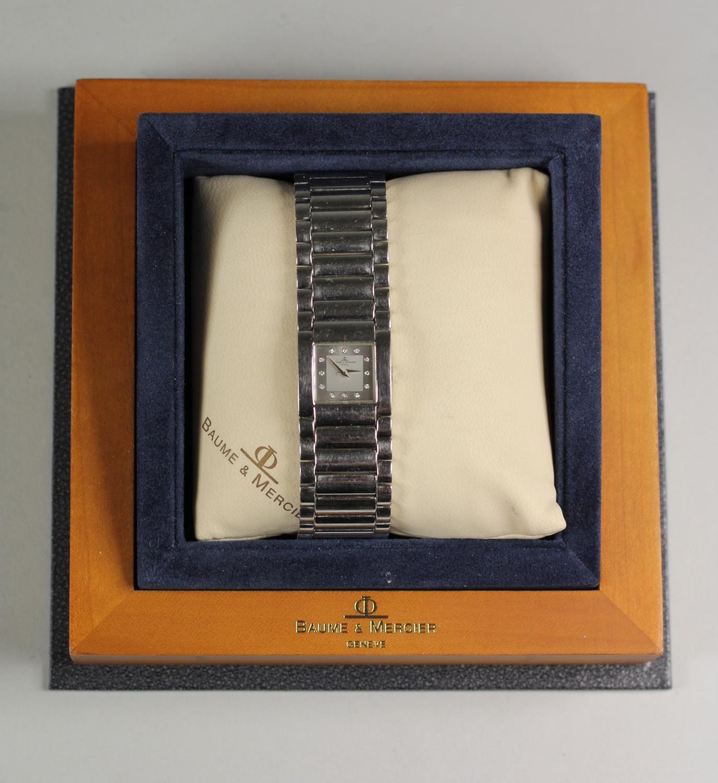 Baume & Mercer, Catwalk Acier, stainless steel ladies wristwatch, c.1999, with guarantee, booklet, - Image 2 of 2