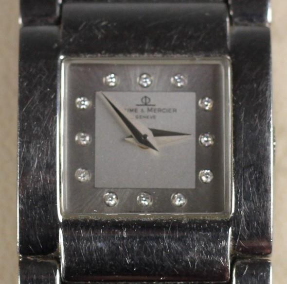 Baume & Mercer, Catwalk Acier, stainless steel ladies wristwatch, c.1999, with guarantee, booklet,