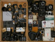 A collection of cameras and accessories, to including brands such as Nixon, Olympus and Fujifilm (2)