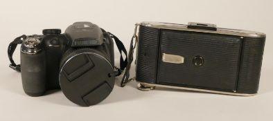 A Agfa Billy Record Circa 1933-1942 Agfa Anastigmat JGESTAR Lens, together with a Fujifilm FinePix
