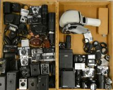 A Norris slide projector, together with cameras and accessories, including brands such as Canon