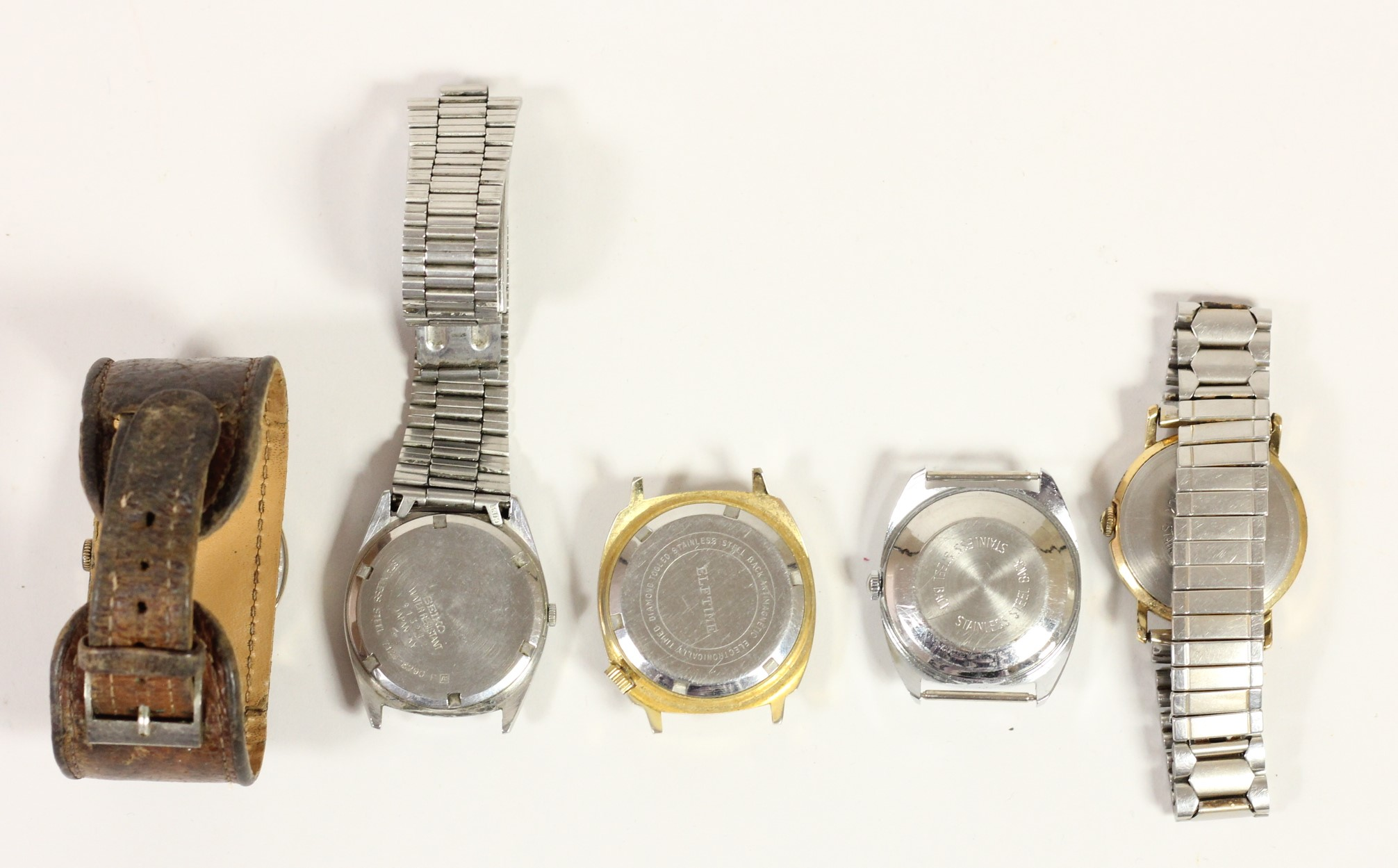 A Smiths Empire manual wind wristwatch, a Seiko quartz day/date wristwatch and three other - Image 2 of 2