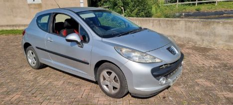 2009 Peugeot 207 Verve three door, petrol, registration number NA09 RSU, 1360cc, MOT until January
