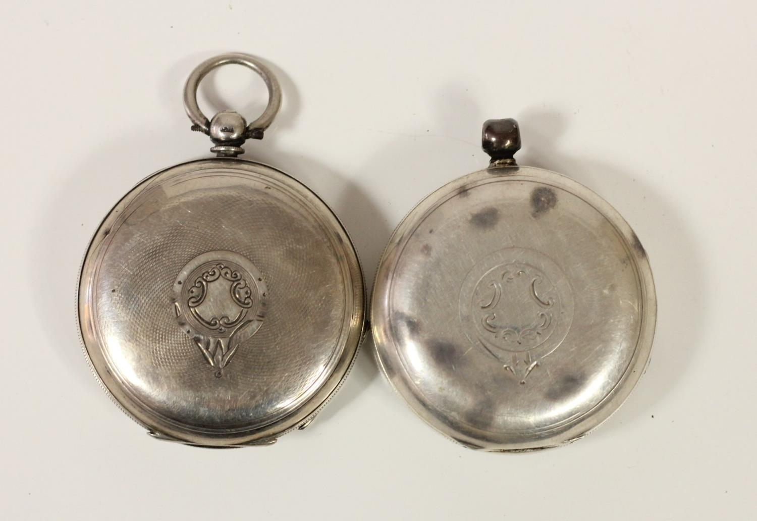 J.G. Graves, Sheffield, a silver open face key wind pocket watch, Chester 1899 and another silver - Image 4 of 4