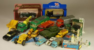 A boxed Lone Star Impy - Rolls Royce, together with, playworn die-cast models by Matchbox and Corgi.
