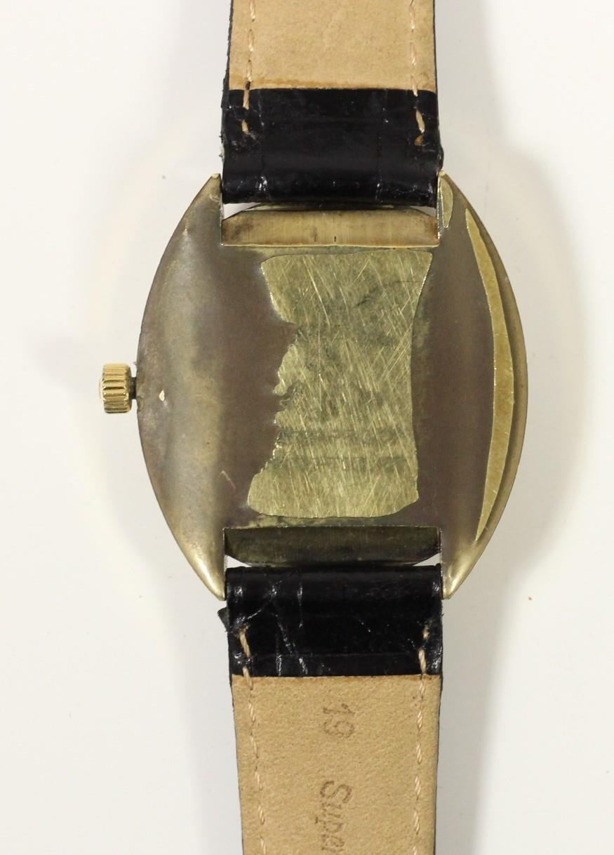 Omega Seamaster Cosmic day/date gilt metal gentleman's wristwatch, c.1970's, with blue chapter ring, - Image 2 of 3