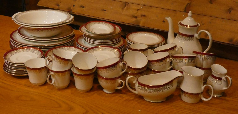 Mid Century part dinner/tea ware by Royal Grafton.