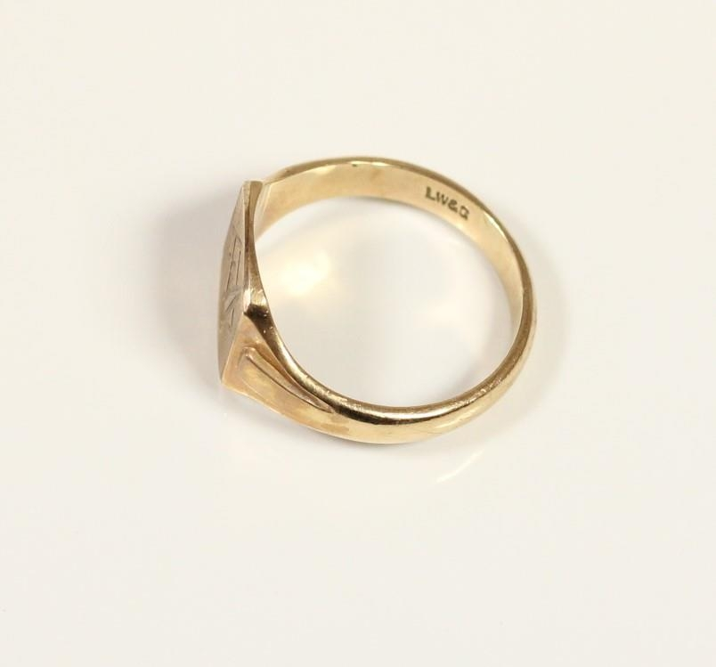 A 9ct gold Masonic ring, London 1972, T, 5gm. - Image 2 of 2