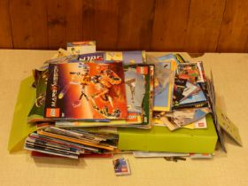 An extensive collection of Lego instruction pamphlets.