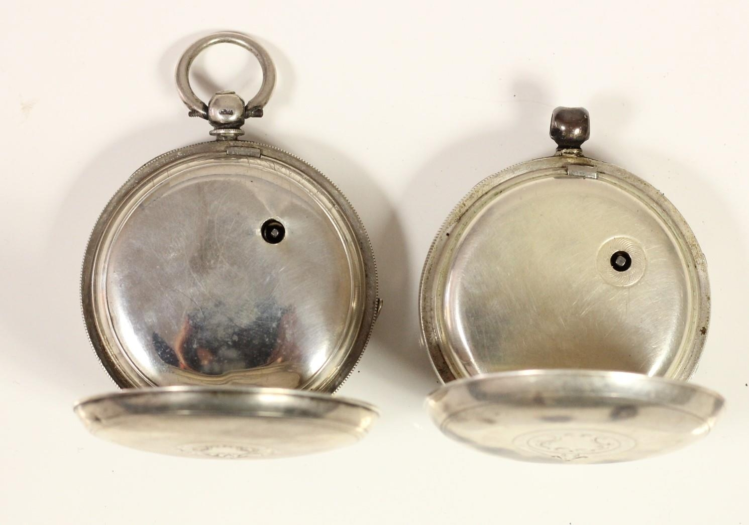 J.G. Graves, Sheffield, a silver open face key wind pocket watch, Chester 1899 and another silver - Image 2 of 4