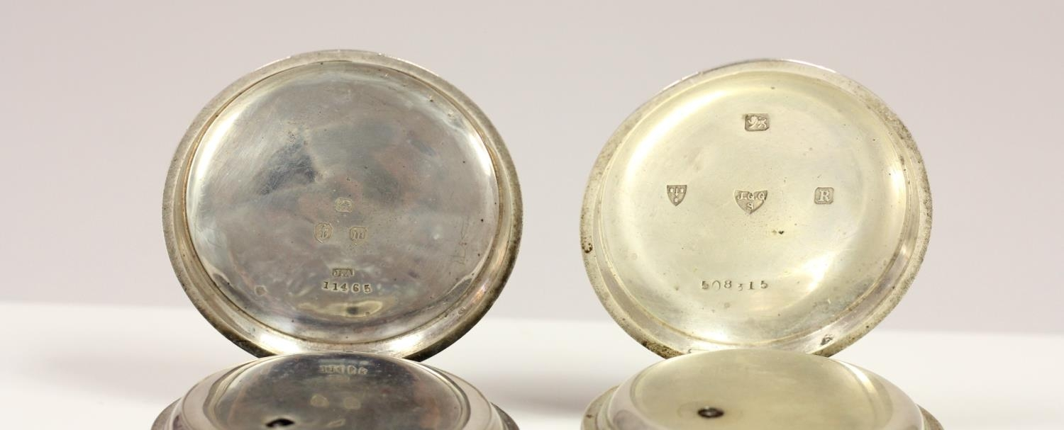 J.G. Graves, Sheffield, a silver open face key wind pocket watch, Chester 1899 and another silver - Image 3 of 4