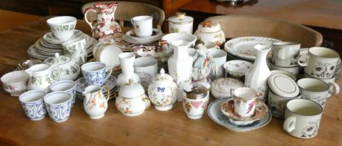 A collection of ceramics & teaware to include, Royal Albert 'country Roses', Masons ware, Aynsley