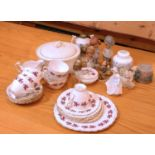 A Mid 20th Century part tea service by 'Colclough' together with a Hornsea casserole dish, and other