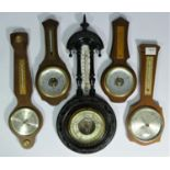 A collection of barometers