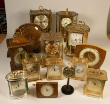 A collection of clocks to include, an Imperial quartz clock, a Kundo anniversary clock, together