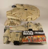 Star Wars models to include, The Millennium Falcon, Jabba Hutt, X-Wing, Snow Speeder, and B-Wing.