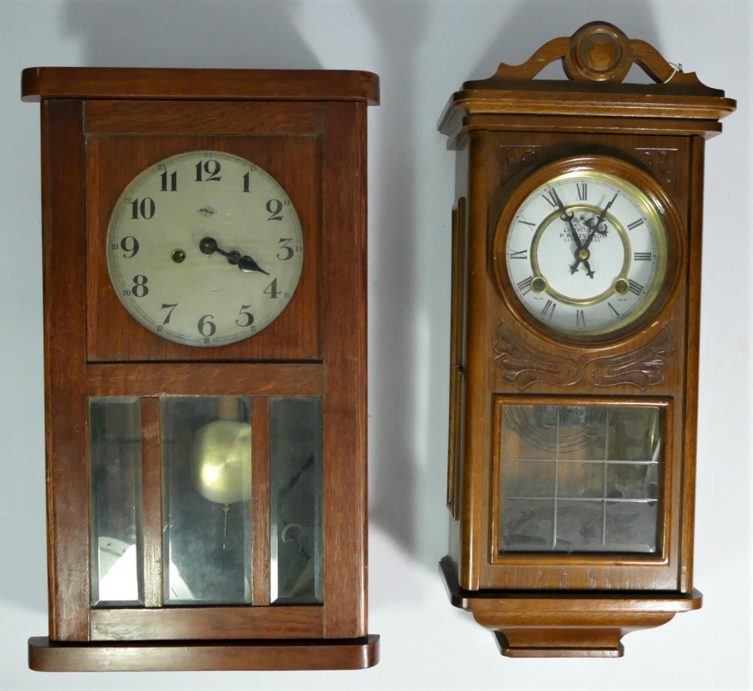 A collection of clocks to include, an Acctim 31 day wall clock, a Highlands 31 day wall clock, - Image 2 of 3
