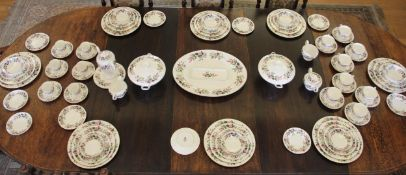 A Wedgwood Hathaway Rose dinner and tea service for eight place settings, comprising dinner plates