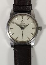 Omega Seamaster, a stainless steel automatic gentleman's wristwatch, c.1958, with subsidiary seconds
