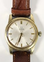 Omega automatic, stamped Seamaster on reverse, a gold plated gentleman's automatic wristwatch,