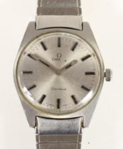 Omega, a stainless steel manual wind gentleman's wristwatch, c.1970, ref 112, movement number