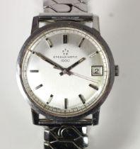 Eternamatic 1000, a stainless steel gentleman's automatic date wristwatch, ref 133IT, silvered