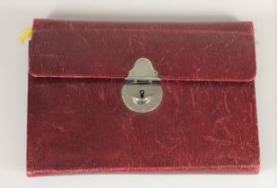 A comprehensive sewing kit, with silver needle case and pencil, Birmingham 1910 and mother of