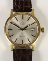 Omega, Geneve, a gold plated automatic date gentleman's wristwatch, c.1958,cal 1481, movement number