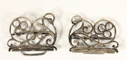 A silver nurses buckle, Birmingham 1989, 7.5cm, 1oz.