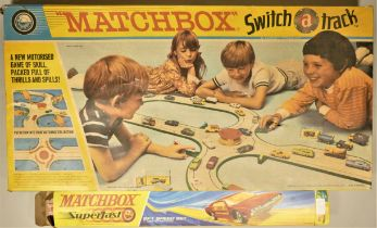 A 1970s Matchbox M3 Switch A Track Set (incomplete) together with Matchbox Superfast track. (2)