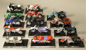 A collection of forty seven motorcycles by Maisto. (3)