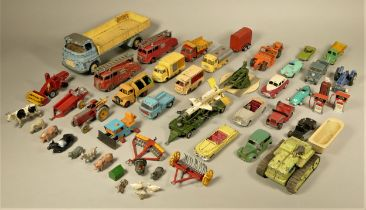 A collection of early playworn diecast models, makers to include - Lesney, Dinky and Tri-Ang.