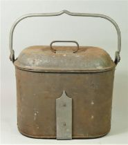 An authentic Victorian Royal Navy mess kettle - applied label 'Sellman & Hill Ltd, Royal Navy Mess