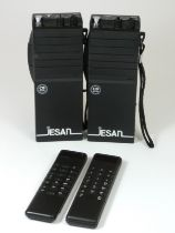A boxed 1970s Sinclair Sovereign calculator, together with an unboxed example and two Jesan (model-