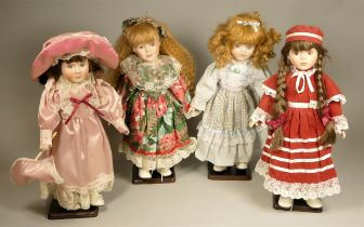 A collection of modern porcelain dolls to include 'The Classique Collection' together with five