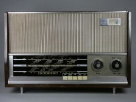 An Ekco 355 1960's valve radio. FM, MW and LW. Checked and working. Tuning indicator, aluminium
