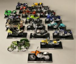 A collection of forty model motorcycles by Maisto.