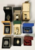 A collection of boxed ladies & gents quartz wristwatches, makers to include - Rotary, Avia, Timex