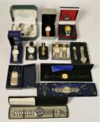 A collection of boxed/unboxed quartz ladies & gents wristwatches, makers to include - Timex,