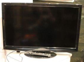 A Panasonic (TX-L37G20BA) 37inch TV, with remote control unit