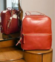 Radley Leadenhall Red Leather Backpack, 63352M, as new condition bag with price tag from Radley,