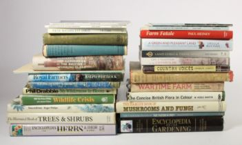 A collection of books relating to Yorkshire, gardening and farming,