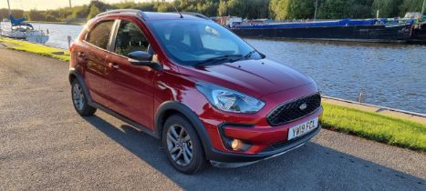 2019 Ford KA+ Active, 1.2 VCTI 85PS. Registration number YW19 FCL. Chassis number MAJUXXMTKUKC59049.