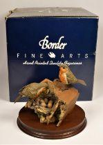 Border Fine Arts, Robins, limited edition 64/950, impressed BFA Scotland 1988, 18 x 22 cm