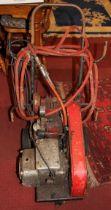 W.Bateman & Co Sellarc electric wheeled 5hp compressor, untested