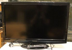 A Panasonic (TX-L32G20B) 32inch LCD TV, with remote control unit. Untested, sold as seen.