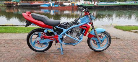 Kawasaki project. Registration number not registered. Frame number JKAER500 AAA047529. Engine number
