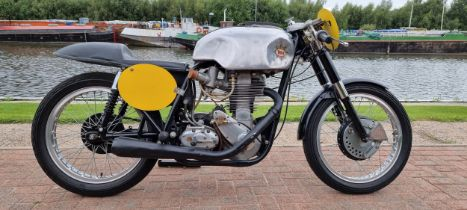 1957 BSA Gold Star DBD34, 499cc, ex Harry Grant race bike. Registration number UUV 183 (non