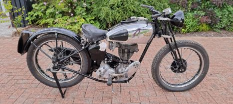 1939 AJS Model 26, 347cc, Project. Registration number FWJ 572. Frame number X663. Engine number