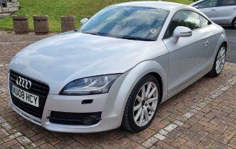 2008 Audi TT Quattro, 3,189cc. Registration number KU08 HCY. Chassis number TRUZZZ8JX81033873.